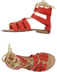 Aldo Brue' Sandals red - Lyst