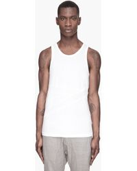 Adidas Slvr White Two-tone Banded Tank Top - Lyst