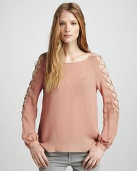 Haute Hippie Laceupsleeve To - Lyst
