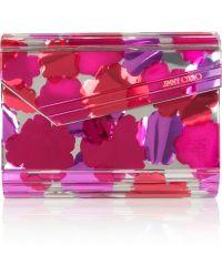 Jimmy Choo The Candy Mirrored Acrylic Clutch - Lyst