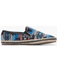 H by Hudson - Blue Woven Orca Espadrille Loafers - Lyst