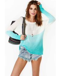Nasty Gal Into The Blue Knit - Lyst