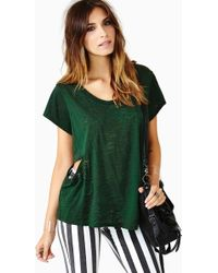 Nasty Gal Slash Tee - Lyst