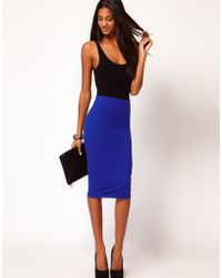 ASOS Collection  Pencil Skirt in Jersey - Lyst