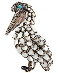 Iradj Moini - Mother Of Pearl Pelican Pin - Lyst