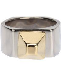 Saint Laurent Hexagon Ring - Lyst