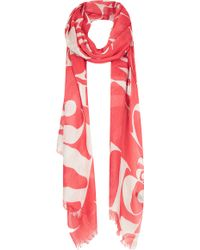 TOPSHOP - Abstract Letter Scarf - Lyst