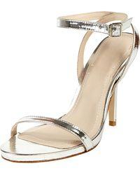 Elizabeth and James - Toni Ankle Strap Bare Sandal Silver - Lyst