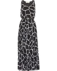 Michael by Michael Kors Giraffeprint Georgette Maxi Dress - Lyst