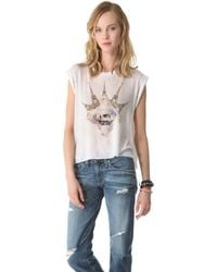 Wildfox Paris Is My Lover Tee white - Lyst