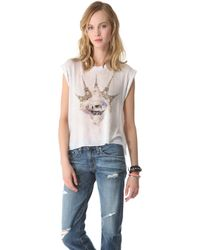 Wildfox Paris Is My Lover Tee - Lyst
