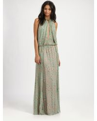 By Malene Birger Rebel Chic Long Silk Dress - Lyst