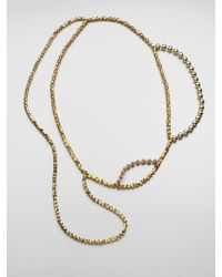 FLorian - Metallic Layered Bead Necklace - Lyst