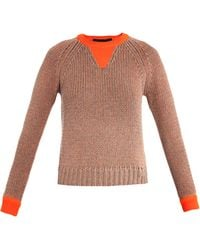 Marc By Marc Jacobs Candace Neontrim Sweater - Lyst
