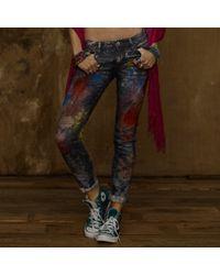 Ralph Lauren Carbon Stretch Skinny Jean - Lyst