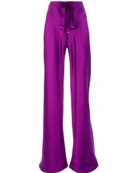 Roberto Cavalli Wide Leg Drawstring Trouser - Lyst