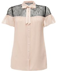 Alice By Temperley   Pirouette Lace Panel Blouse   Lyst