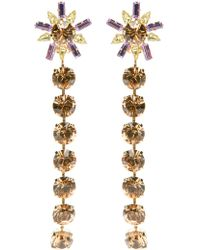 Christian Lacroix - Glamour Flower Earrings - Lyst