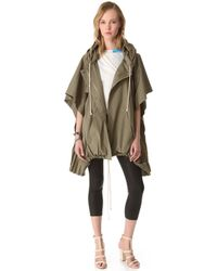 Boy by Band of Outsiders - Hooded Full Zip Poncho - Lyst