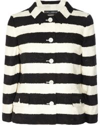 Dolce & Gabbana Striped Cotton-Blend Jacquard Jacket - Lyst