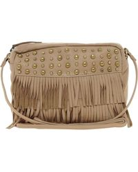 Asos Leather Across Body Bag with Stud Fringe Detail - Lyst
