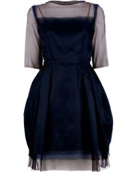 Lanvin Sheer Dress black - Lyst