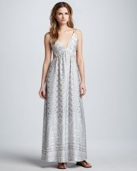 Pencey - Printed Open-Back Maxi Dress - Lyst