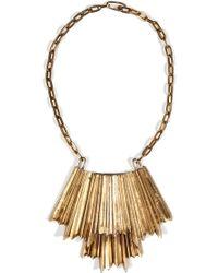 Aesa - Brass Genny Necklace - Lyst