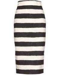 Dolce & Gabbana Striped Jacquard Skirt - Lyst