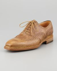 Lidfort | Medallion Uwing Lace-up Neutral | Lyst