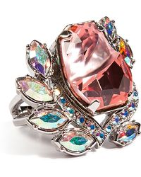 Mawi Flower Gemstone Ring in Pink - Lyst