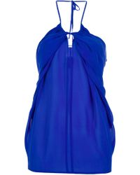 See By Chloé Halter Neck Top blue - Lyst