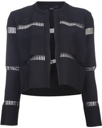 Alexander Wang Cropped Cut Out Cardigan - Lyst