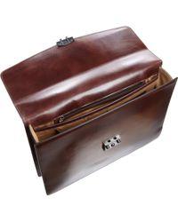 Araldi - Alligator Handle Single Gusset Briefcase - Lyst