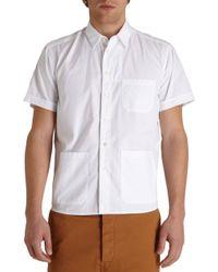 Barena Patch Pocket Short Sleeve Shirt - Lyst