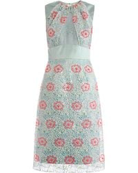 Erdem Alicia Embroidered Overlay Dress - Lyst
