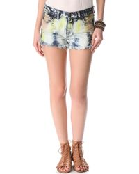 Free People Dolphin Hem Cut Off Shorts - Lyst