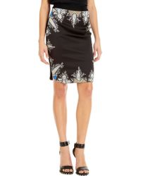 Givenchy Paisley Trim Skirt black - Lyst