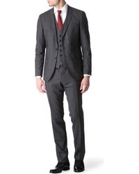 Hugo Boss Reesewin Slimfit Threepiece Checked Suit - Lyst