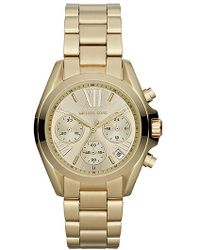 Michael Kors Bradshaw Goldtone Stainless Steel Chronograph Watch - Lyst