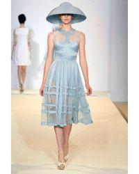 Temperley London Freya Ribbon Dress blue - Lyst