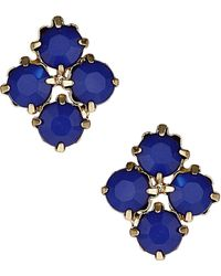 Topshop Stone Cluster Stud Earrings - Lyst