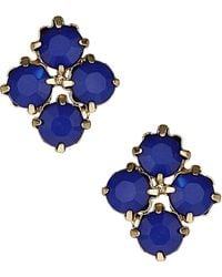 Topshop Stone Cluster Stud Earrings gold - Lyst