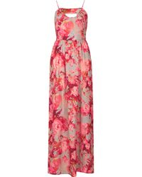 Topshop Blur Floral Maxi Dress - Lyst