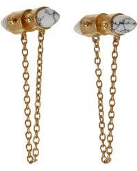 A.L.C. - Howlite Lowe Stud Earrings - Lyst