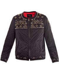Isabel Marant Fairlea Embellished Quilted Satin Bomber Jacket - Lyst