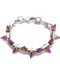 Joomi Lim - Future Perfect Spike Bracelet - Rhodium/rainbow - Lyst