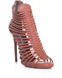 Tabitha Simmons Pink Strippy Sandals - Lyst