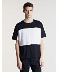 Unused - Mens Contrast Colour Tshirt - Lyst