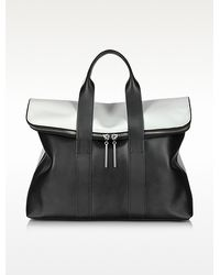 3.1 Phillip Lim 31 Hour Black White Leather Tote Bag - Lyst